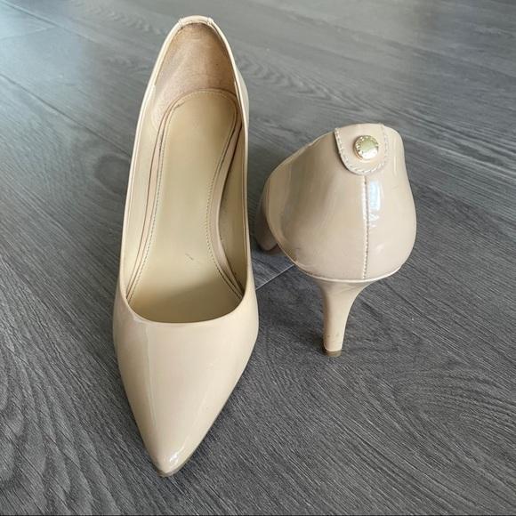 Michael Kors Nude Patent Leather Pointed Toe Heel